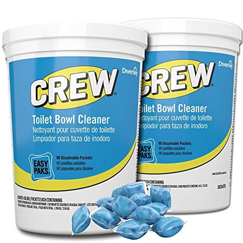 Diversey Crew Easy Paks Toilet Bowl Cleaner, 2 Tubs x 90 Dissolvable Packets.5 oz. Packet (180 Total Dissolvable Packets) ()