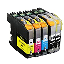Ink & Toner Geek® - 5 Pack Compatible Replacement Inkjet Cartridges for LC-203 LC203 XL (LC-203BK, LC-203C, LC-203M, LC-203Y) Black Cyan Magenta Yellow For Use With Brother MFC-J4320DW MFC-J4420DW MFC-J4620DW MFC-J5520DW MFC-J5620DW MFC-J5720DW