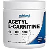 Nutricost Acetyl L-Carnitine (ALCAR) 100 GMS - 100 Servings - 1000mg Per Serving - Highest Quality Pure Acetyl L-Carnitine Powder - Cognitive Enhancer - Boost Your Brain Power