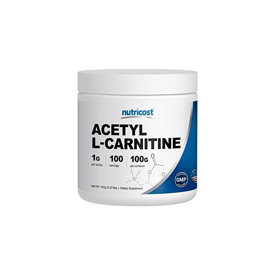 Nutricost Acetyl L Carnitine (ALCAR) 1000mg Per Serving High Quality Pure Acetyl L Carnitine Powder