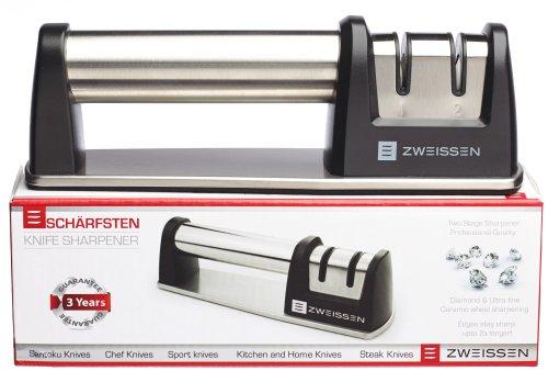 UPC 721762493083, Zweissen Shärfsten 2-Stage Diamond Grit Manual Knife Sharpener - Chrome