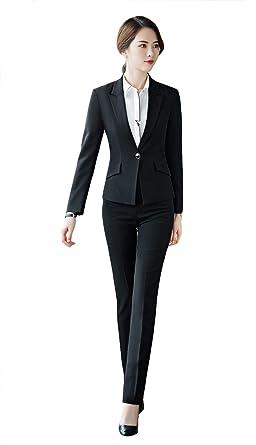 best sneakers 4ce35 14505 SK Studio Damen Business Anzug Set Slim Fit Klassischer ...