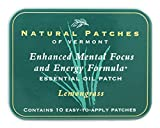 Natural Patches of Vermont - Enhanced Mental Focus & Energy Formula Essential Oil Body Patches Lemongrass - 10 Patch(es) Formerly Naturopatch