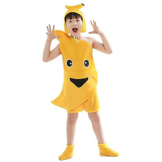 Halloween Kids Girls Boys Fruit Costume Banana Role Play Cosplay Dress Up Suit (Height  sc 1 st  Amazon.com & Amazon.com: Halloween Kids Girls Boys Fruit Costume Banana Role ...