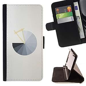 BullDog Case - FOR/Samsung Galaxy S5 V SM-G900 / - / PIE CHART GREY ABSTRACT MINIMALIST GREY /- Monedero de cuero de la PU Llevar cubierta de la caja con el ID Credit Card Slots Flip funda de cuer
