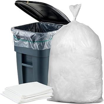 Amazon.com: Bolsas de basura con capacidad de 65 galones, 50 ...