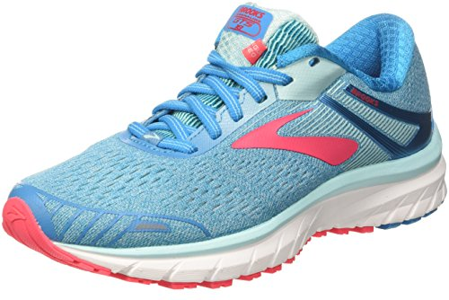 Brooks Womens Adrenaline GTS 18 Running Shoe Blue/Mint/Pink, 8.5