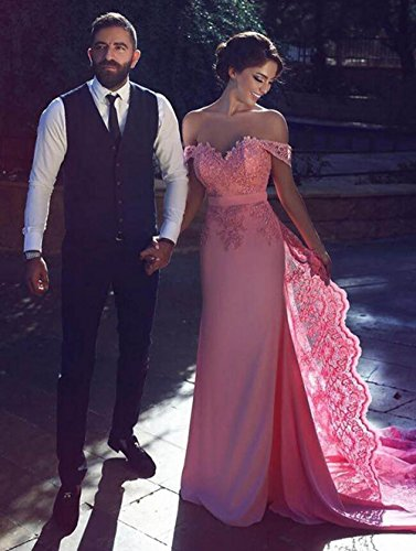Dresses Red Sheath Formal Dressesonline Bridesmaid Lace Prom Shoulder Appliques Dress 8xSzgpwq