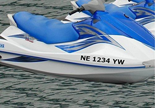 Stickerloaf brand custom jet ski boat registration number decal set boat numbers boating jetski luxury yacht