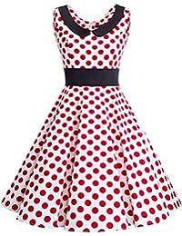 Dresstells® Retro Peter Pan Collar 50's Hepburn Rockabilly Prom Dress