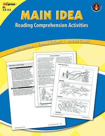 Edupress Main Idea Comprehension Book Blue Level by Edupress