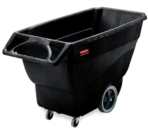 Rubbermaid-HDPE-Box-Cart-with-Steering-Wheel-Black-38-Height-64-12-Length-x-30-14-Width