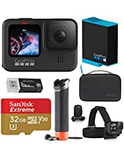 $445 » GoPro HERO9 Black, Sports and Action Camera, 5K/4K Video, Deluxe Bundle with Adventure Kit, Extra Battery, 32GB microSD Card, Card Reader