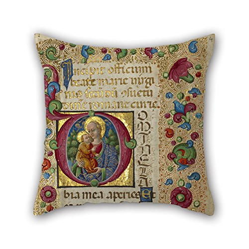 Artistdecor 20 X 20 Inches / 50 By 50 Cm Oil Painting Guglielmo Giraldi (Italian, Active 1445 - 1489) - Initial D- The Virgin And Child Pillowcover ,double Sides Ornament And Gift To Bf,outdoor,birt (Ghosts Italian Style Dvd compare prices)