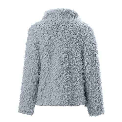 Blouson Manteau Casual Chaud Blouse Femme Sweatshirt À Mode Gris Hiver Solide Longues Hoodie Pullover Manches Tops Veste Shobdw Capuche ftwd6t