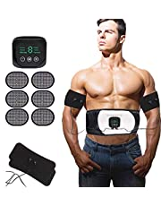 Nitoer Abs Trainer,EMS Abdominal Muscle Stimulator,EMS Muscle Stimulator USB Rechargeable,Abdominal Toning Belts,ABS Machine Ab Belt Toning Gym Workout Machine For Men & Women
