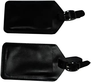 product image for BAGS USA Luggage Tags 3 Pieces Set,Black Genuine Leather fits Standard Business Card
