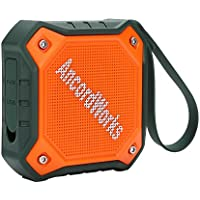 AncordWorks Waterproof Outdoor Bluetooth Speaker,IPX7 Water Resistance Built-in Mic Portable Wireless Speakers,Twelve Hour Playtime Eight Wattge Driver for Travel Hiking Party Cycling Picnics Orange