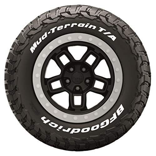 Tire Stickers - Official BFGoodrich Tire Letters for KM3 Tires - Add-On Tire Accessory - White Edition - (1 Tire)