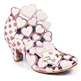 Irregular Choice Womens Meile Cut Out Closed Toe Love Heart Low Heels - White Multi - 8