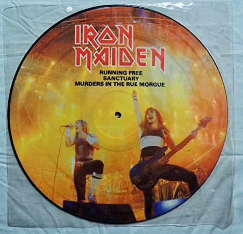Iron Maiden: 12'' picture disc U.K. Import (running free) 1985 EMIP 5532 (12' Import Vinyl)