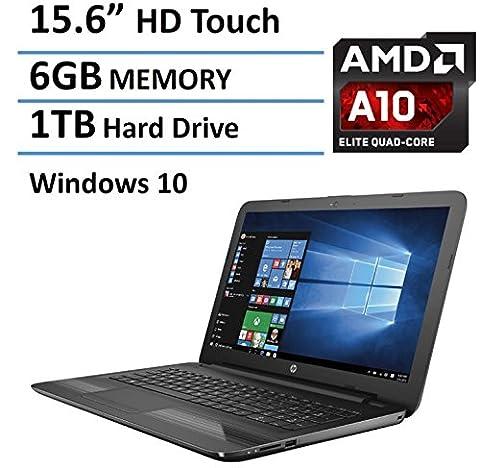 HP 15-inch High Performance Premium Touchscreen Laptop (2016 New Flagship Edition), AMD A10-9600P Quad-Core Processor 3.3GHz, 6GB RAM, 1TB HDD, HDMI, DVD+RW DL, Webcam, Windows 10 64bit, - 15 Inch Laptop