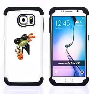 - cream frog shades sunglasses green white/ H??brido 3in1 Deluxe Impreso duro Soft Alto Impacto caja de la armadura Defender - SHIMIN CAO - For Samsung Galaxy S6 G9200