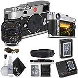 Leica M10 Digital Rangefinder Camera (Silver), and Leica Elmar-M 24mm f/3.8 ASPH. Lens, With Sony 128GB Memory Card Bundle