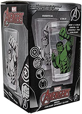 OFFICIAL MARVEL THE HULK LARGE DRINKING GLASS NEW IN GIFT BOX