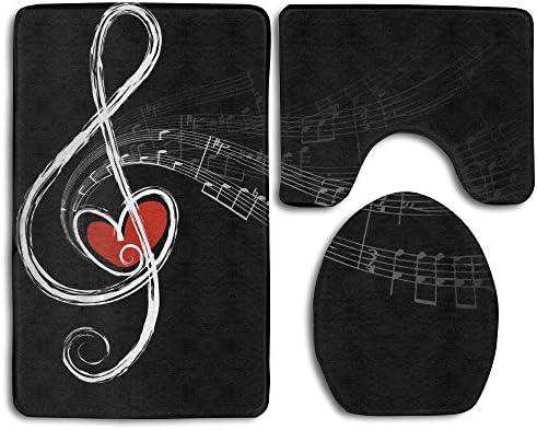 Amazon com : EWFXZq Music Symbols Love Fashion Bathroom Rug Mats Set