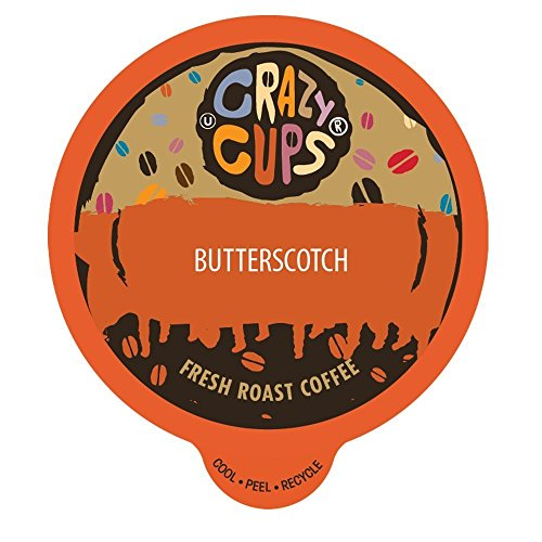 Crazy Cups Flavored Coffee, for the Keurig K Cups 2.0 Brewer, Butterscotch, 22 ()