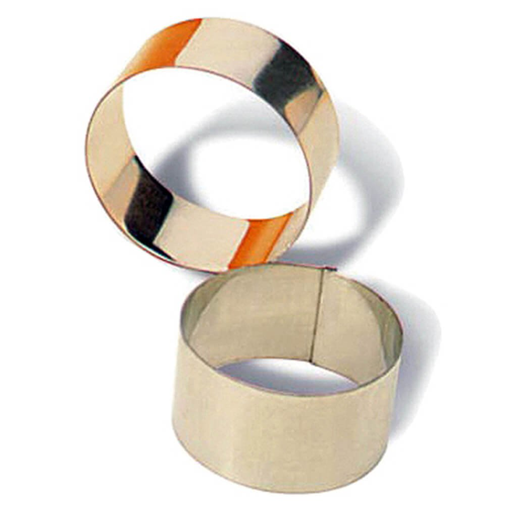 Matfer Bourgeat Tinplate Pastry/Dessert Ring Mold, 2.37'', 4PK 375092