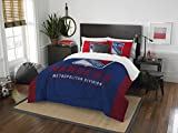 The Northwest Company Officially Licensed NHL New York Rangers Draft Full/Queen Comforter and 2 Sham Set, Blue/Red