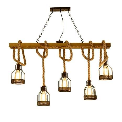 Amazon.com: ZGY Lámpara de techo vintage colgante lámpara ...