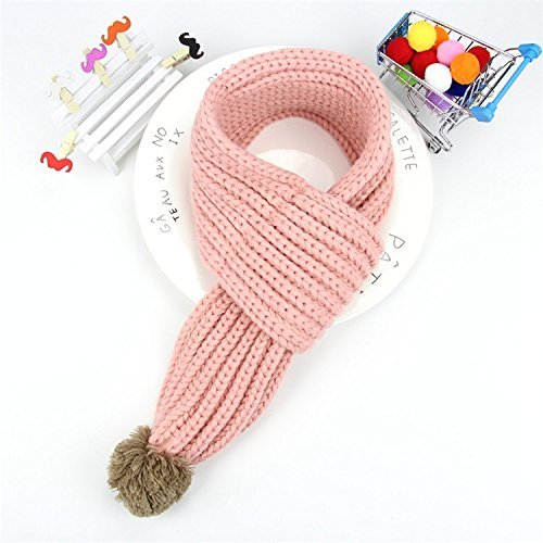 DEED Children's Scarf Knitted Scarf Baby Warm Scarf,1 Light Powder by DEED