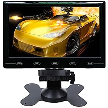 SallyBest® 7 Inch Ultra Thin 16:9 HD 800*480 TFT LCD Color Car Rear View Monitor 2 Video Input DVD VCD Headrest Vehicle Monitor Support Audio Video HDMI VGA