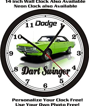 1970 DODGE DART SWINGER WALL CLOCK-FREE USA SHIP