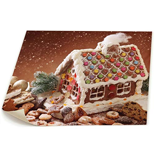 OYE Gingerbread House Picture Photo Printed On Canvas Wall Art Paintings Without Framed for Living Room Bedroom Wall Or Table Decorate