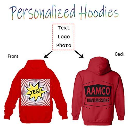 Custom Design Men Pullover Hoodie DIY Your Own Hooded Sweatshirt Personalized Hoodies -