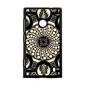 Hoomin Charming Mandala Fire Pattern Nokia Lumia 520 Cell Phone Cases Cover Popular Gifts