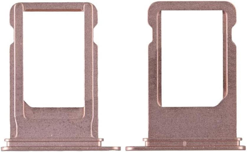 MEIISI SIM Card Tray Holder Replacement Compatible with iPhone 8 with Eject Pin Color Rose Gold