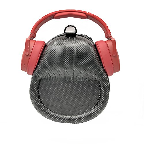 Esimen Carrying Headset Headphones Case for Skullcandy Hesh 3 Hesh3 Wireless Headphone Hard Box Extra Room for Cable and Power Bank Accessories (Black Spots)