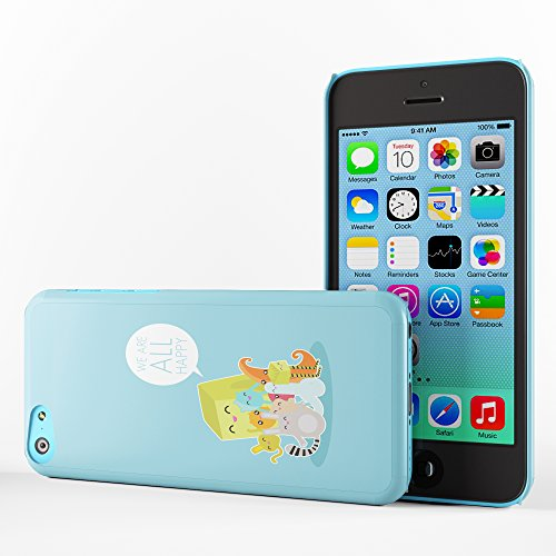 Koveru Back Cover Case for Apple iPhone 5C - We are all happy
