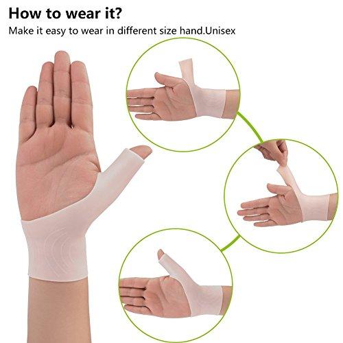 Phileex Carpal Tunnel Wrist Brace - Thumb Brace Right Hand (1pair) New Material Thumb Splint, Great for Tenosynovitis Gel Wrist Brace Carpal Tunnel, Typing, Wrist & Thumb Pain, Rheumatism,Arthritis by Phileex (Image #1)