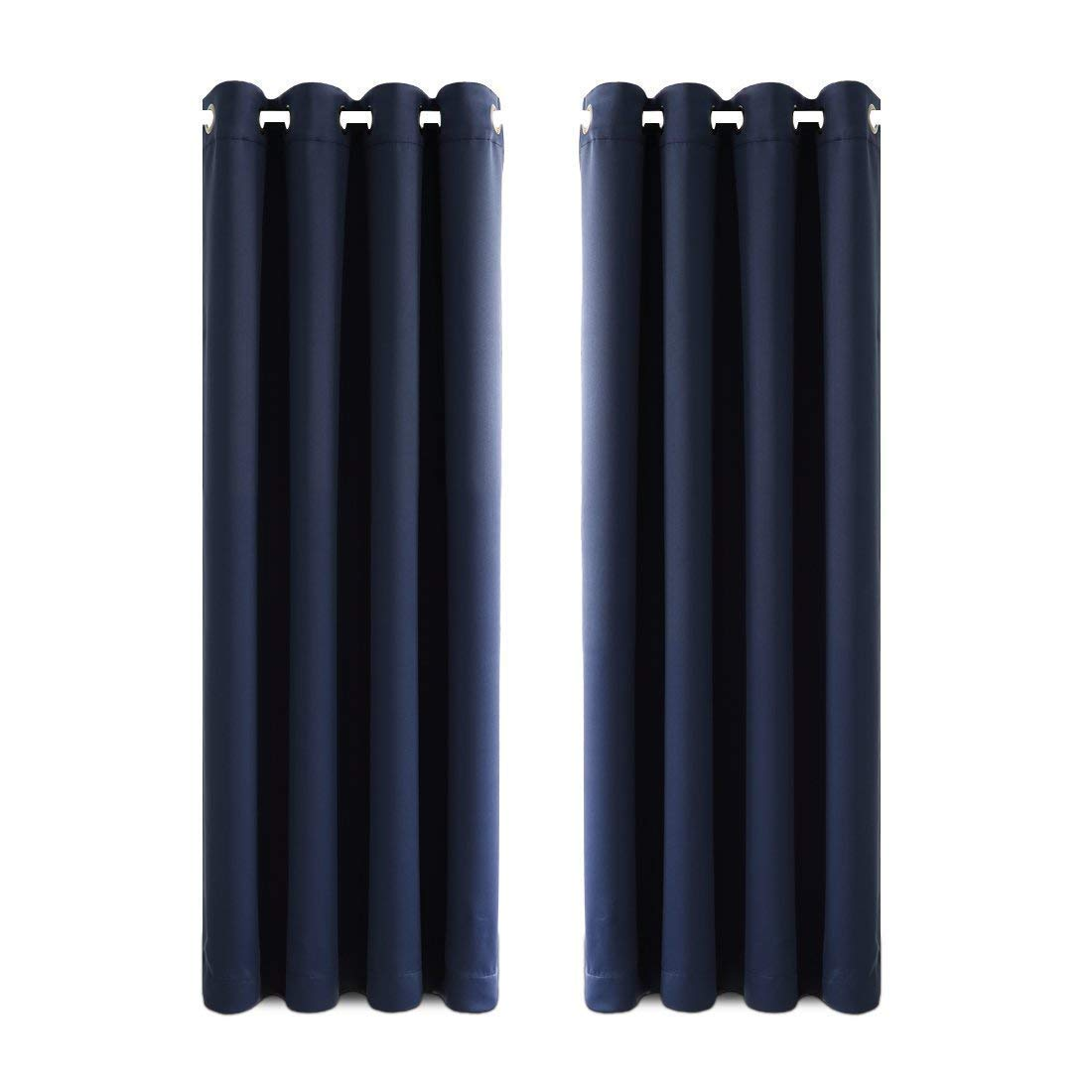 Balichun 99% Blackout 2 Panels Curtains Thermal Insulated Grommets Drapes for Bedroom 52 by 63 Inch Black FBA_B01HXC3VNU