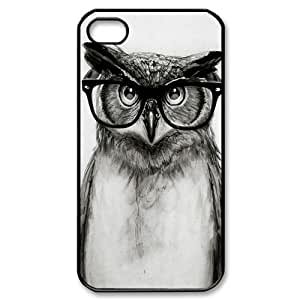 DIY Phone Case for Iphone 4,4S, Cut Owl Cover Case - HL-533100