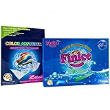Finice Color Absorber Laundry Detergent Sheets (35-Sheets)/Highly Concentrated Laundry Detergent Sheets (28-Sheets) (Combo Pack)
