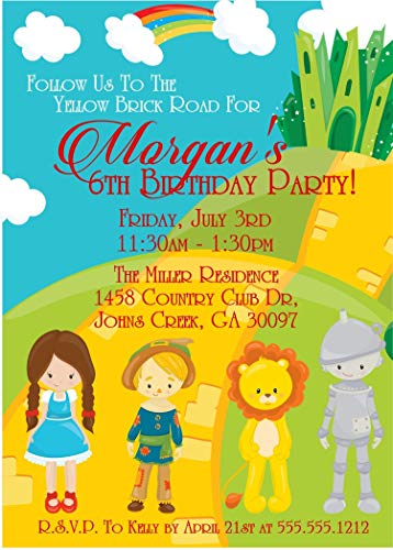 Wizard Of Oz Birthday Party Invitations ()