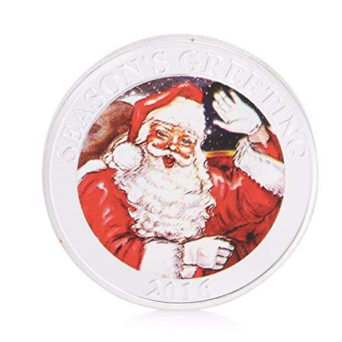 - Non-currency Coins - Silver Plated Seasons Greetings Commemorative Coin Merry Christmas Collectible Collection - Silver Stamps Christmas Greetings Currency Coins Wallet Baellerry Leather Polo Pu