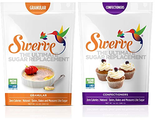 (Swerve Sweetener, Bakers Bundle, Granular and Confectioners, 12 Ounce, pack of 2)